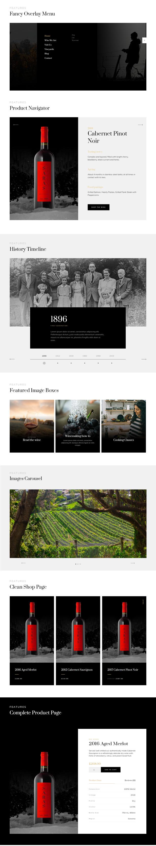 Saras - Wine WordPress Theme